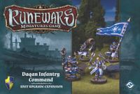 Board Game: Runewars Miniatures Game: Daqan Infantry Command – Unit Upgrade Expansion
