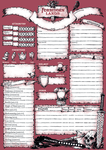 RPG Item: Forbidden Lands Character and Stronghold Sheets