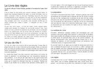 RPG Item: French: Le Livre des Règles