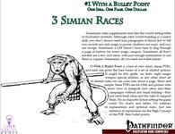 RPG Item: Bullet Points: 3 Simian Races