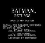 Video Game: Batman Returns (NES)