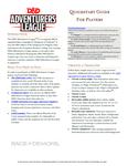 RPG Item: Adventurers League Quickstart Guide for Players