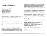 RPG Item: Fork Creek Almanac