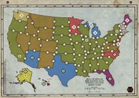 Board Game: Age of Steam Expansion: Old Europe / 51st State