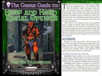 RPG Item: The Genius Guide to: Hoof and Horn Racial Options