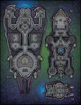 RPG Item: VTT Map Set 231: Starship + Shuttle Deckplans