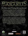 RPG Item: The Lost City of Barakus (Pathfinder)