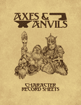 RPG Item: Axes & Anvils Character Record Sheet