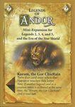 Board Game: Legends of Andor: Koram, the Gor Chieftain