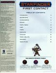 RPG Item: Starfinder First Contact