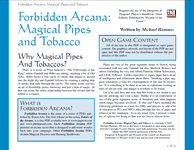 RPG Item: Magical Pipes and Tobacco