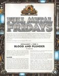 RPG Item: Full Metal Fridays Installment 1, Week 2: Blood and Plunder