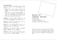 "RPG Item: Dossier #7: Codename ""Barrage"""