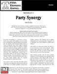 RPG Item: Party Synergy