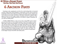 RPG Item: Bullet Points: 6 Archon Feats