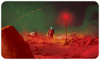 Board Game Accessory: On Mars: Playmat