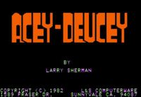 Video Game: Acey-Deucey