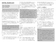 RPG Item: Hotel Babylon (Savage Worlds Edition)