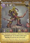 Board Game: Mage Wars: Bloodwave Greatbow Promo Card