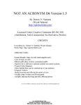 RPG Item: Not An Acronym D6