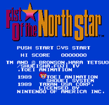 Video Game: Fist of the North Star (1987)