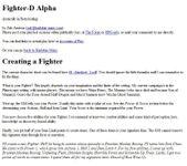 RPG Item: Fighter-D Alpha