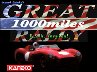 Video Game: Great 1000 Miles Rally