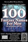 RPG Item: 100 Fantasy Names for Men for all Fantasy RPGs
