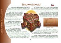 RPG Item: Colours of Magic: Brown Magic (D20)