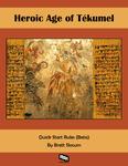 RPG Item: Heroic Age of Tékumel Quickstart