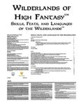 RPG Item: Skills, Feats, and Languages of the Wilderlands