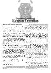 RPG Item: Summoning Morgan Freeman