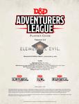 RPG Item: Adventurers League Player's Guide (Elemental Evil)