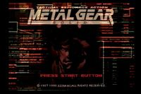 Video Game: Metal Gear Solid