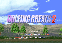 Video Game: Golfing Greats 2