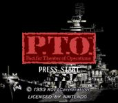 Video Game: P.T.O.:  Pacific Theater of Operations