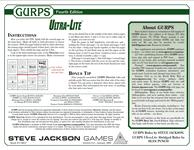 RPG Item: GURPS Ultra-Lite