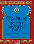 RPG Item: GM's Aid VI: Monster Knowledge Cards Volume 4—Animals & Vermin