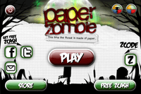 Video Game: Paper Zombie