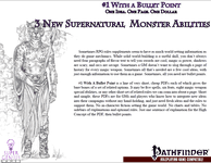 RPG Item: Bullet Points: 3 New Supernatural Monster Abilities