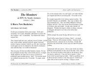 RPG Item: The Monitors