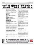 RPG Item: Wild West Feats 2