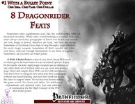 RPG Item: Bullet Points: 8 Dragonrider Feats