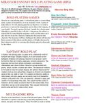 RPG Item: Miravlor Fantasy Role-playing Game
