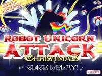 Video Game: Robot Unicorn Attack - Christmas Edition