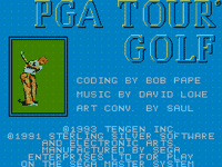 Video Game: PGA Tour Golf