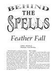 RPG Item: Behind the Spells: Feather Fall
