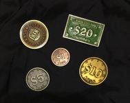 Board Game Accessory: Carson City: Metal Coins and Turn Marker