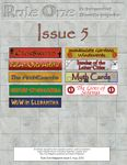 Issue: Rule One (Issue 5 - Aug 2010)