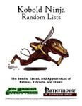 RPG Item: Kobold Ninja Random Lists: Smells, Tastes, and Appearances of Potions, Extracts, and Elixirs